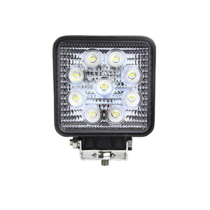 Fracture Series LED Work Light 4inch - 27W - Flood Beam Warm - Black
