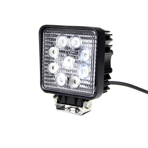 Fracture Series LED Work Light 4inch - 27W - Flood Beam Warm - Black - Warranty Killer Performance