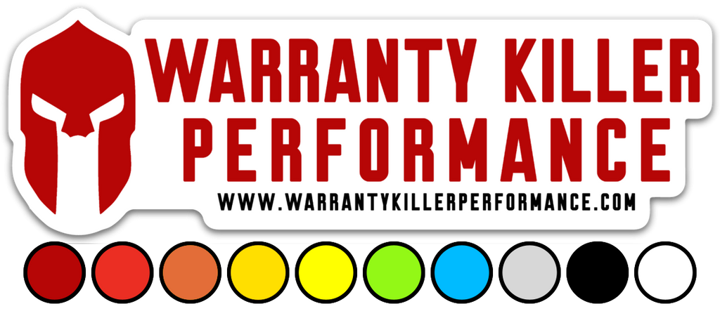 "Custom Colored Die Cut WKP Sticker (6"" x 2"")"
