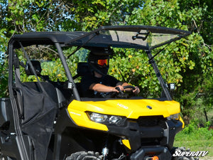 Can Am Defender Scratch Resistant Flip Windshield - Warranty Killer Performance