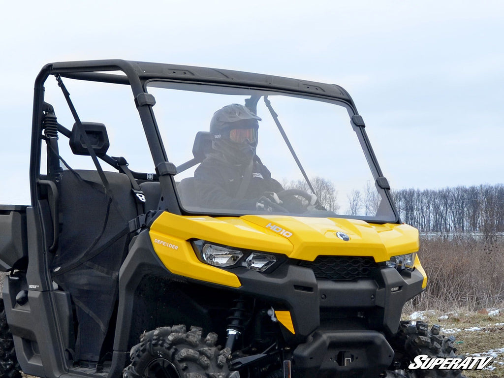 Can Am Defender Scratch Resistant Full Windshield - Warranty Killer Performance