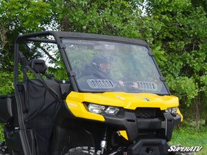 Can Am Defender Scratch Resistant Flip Vented Full Windshield - Warranty Killer Performance