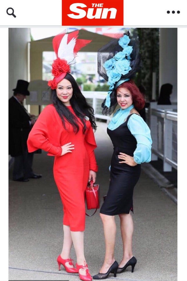 Yuan Li London Millinery Fascinators and Hats at Royal Ascot 2017 Ladies day