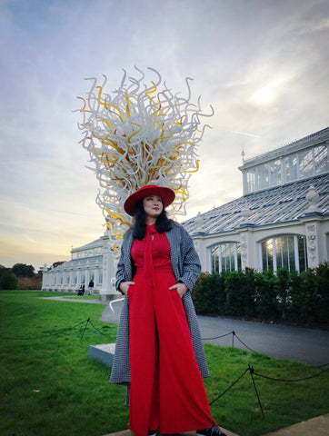 Art and Fashion 3 YUAN LI LONDON Millinery at Chihuly Kew Garden Exhibition