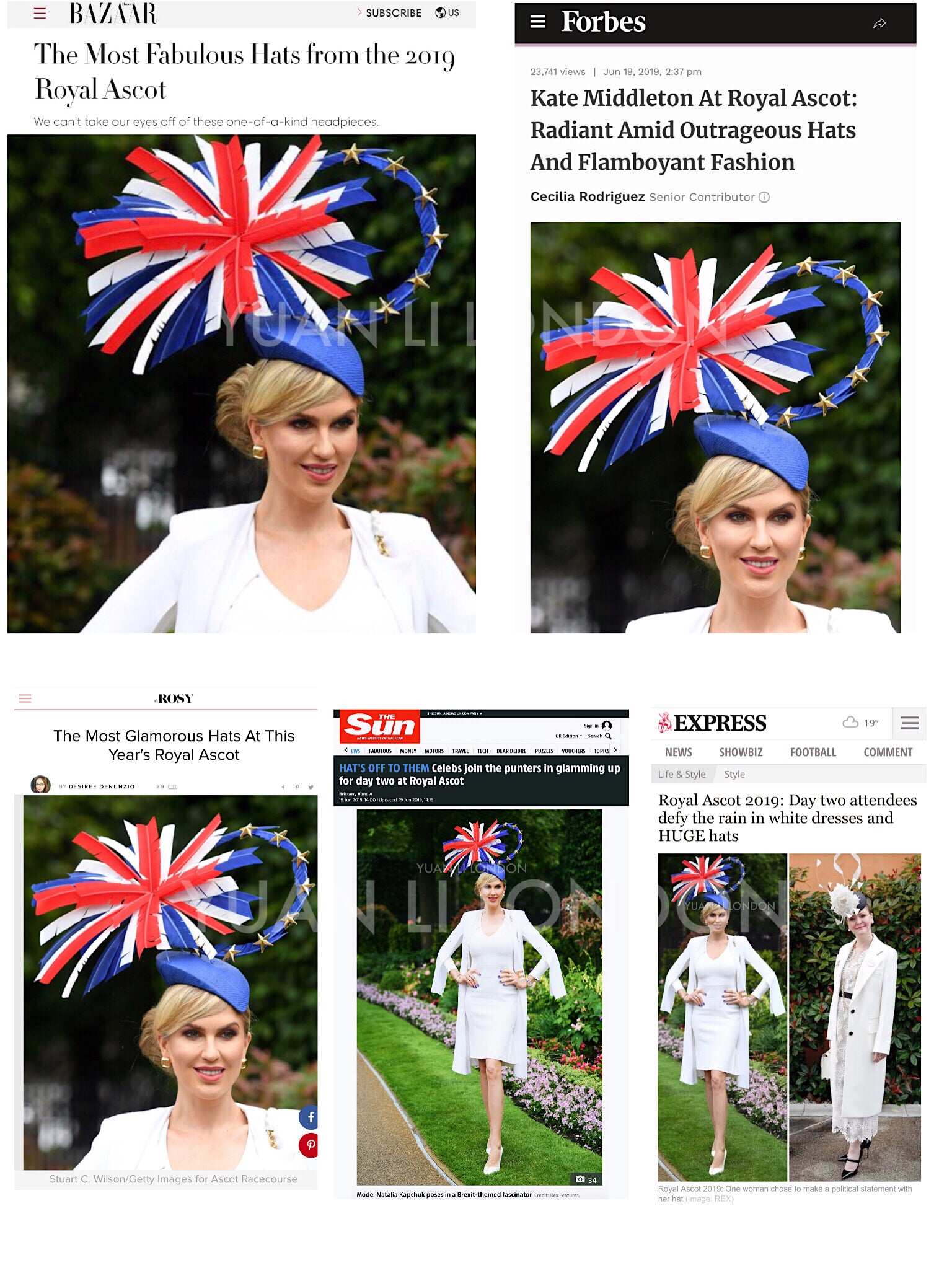Royal Ascot 2019 Ladies Day Best Hat Brexit hat by YUAN LI LONDON MILLINERY