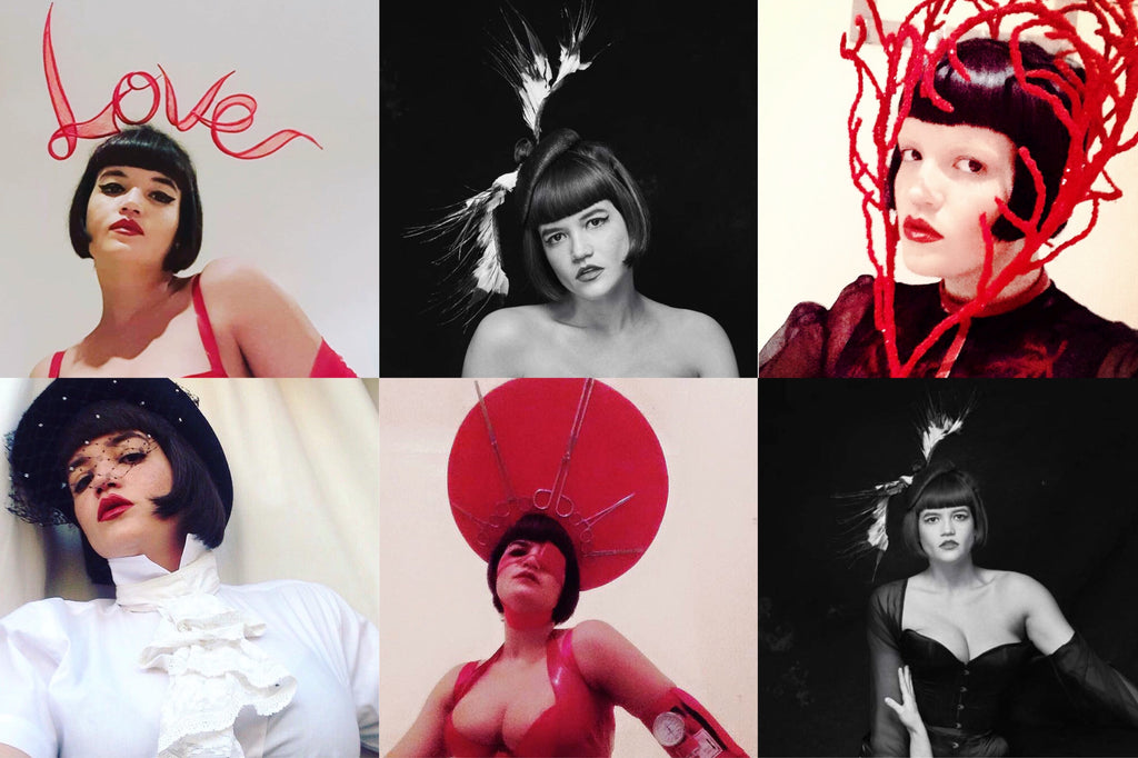 Tessa Kuragi Love Headdress Top Hat Anatomy of Love by Yuan Li London Millinery