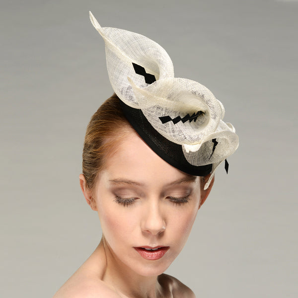 Calla Lily Black White Fascinator