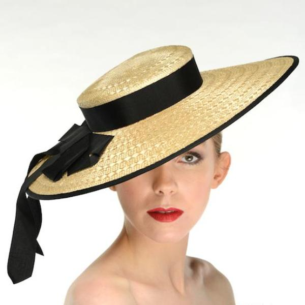 Katherine Summer Straw Boater Hat