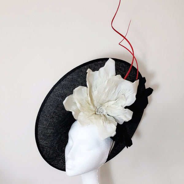 Lady Noir Black White Portrait Hat