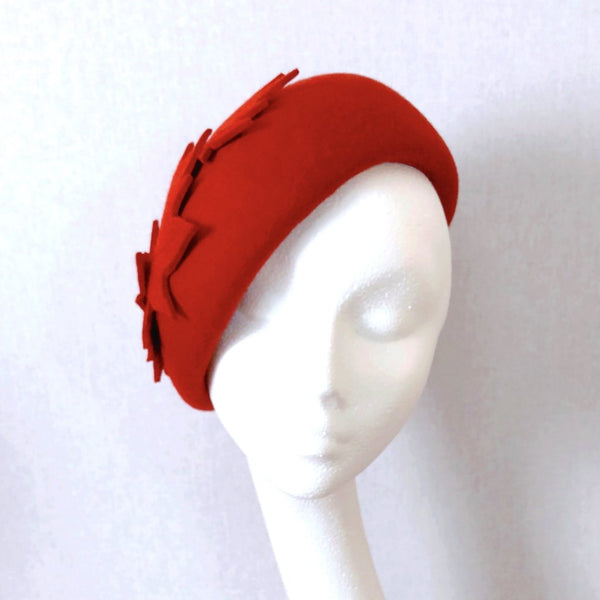 Autumn Leaves Beret Hat Forest Green