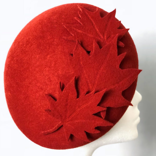 Autumn Leaves Beret Hat