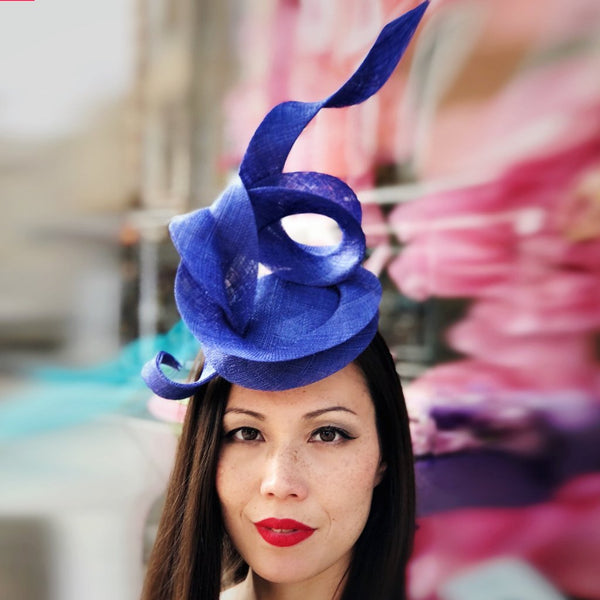 Electric Blue Ribbon Fascinator