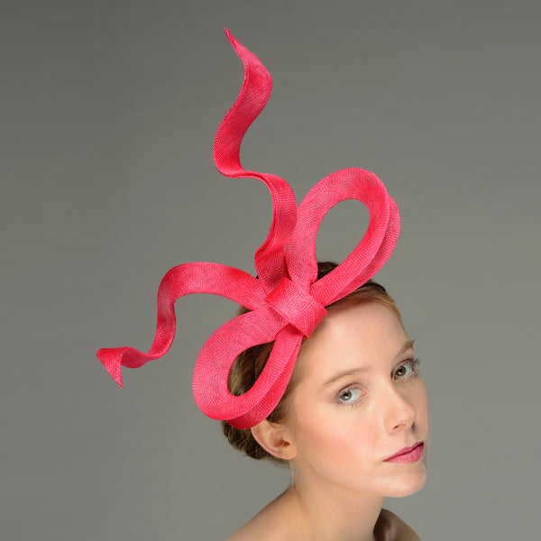 Rebecca Pink Giant Bow Fascinator