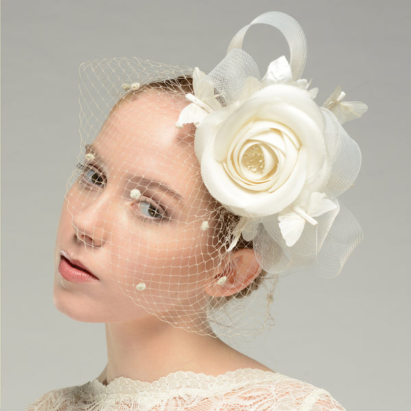 Camellia Bridal Fascinator