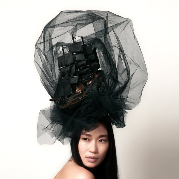 Marie Antoinette Black / White Ghost Ship Headdress