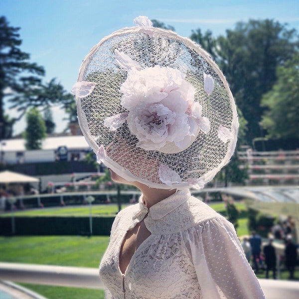 Peony Dream Silk Flowers Saucer Hat