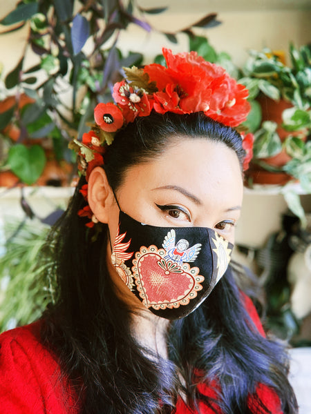 Limited Edition Reusable Filtered Fabric Face Mask Pocket Virus