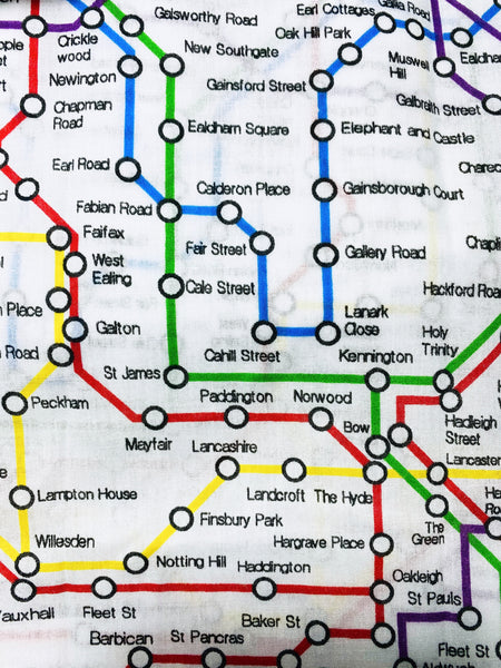 Lost in Tube Map Print Cotton 3 layers Face Mask