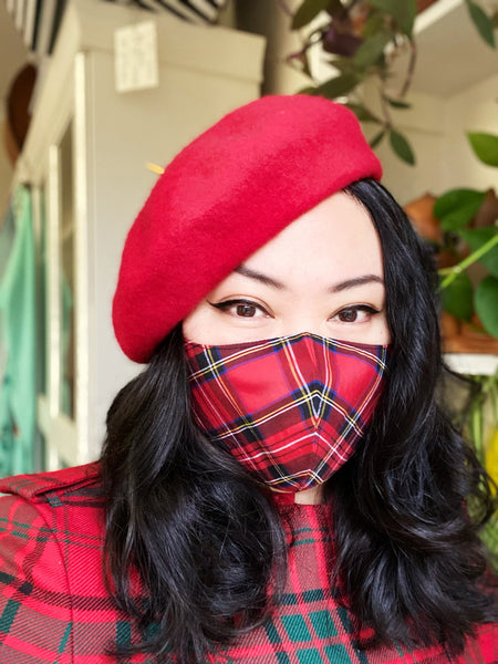 Royal Steward Red Tartan Cotton Face Mask Cover