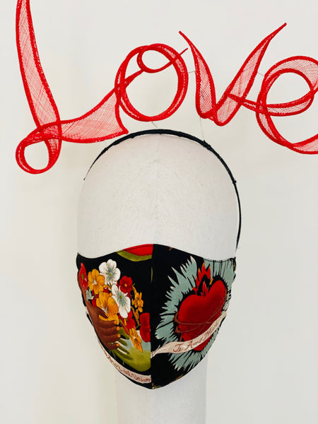 Limited Edition Frida Kahlo Sacred Heart Face Cover Mask Filtered