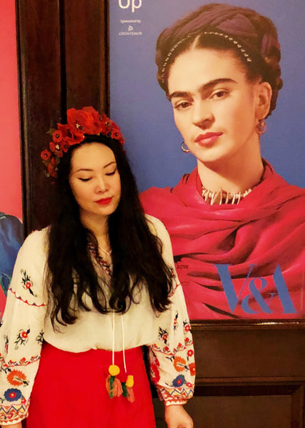 Frida Kahlo Inspired Poppies Garland Headband Fascinator