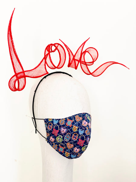 Limited Edition Love Lock Liberty Print Tana Lawn Cotton Filtered Face Mask