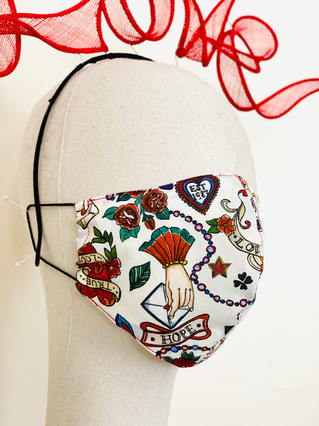Limited Edition Love Letter Liberty Print Tana Lawn Cotton Filtered Face Mask