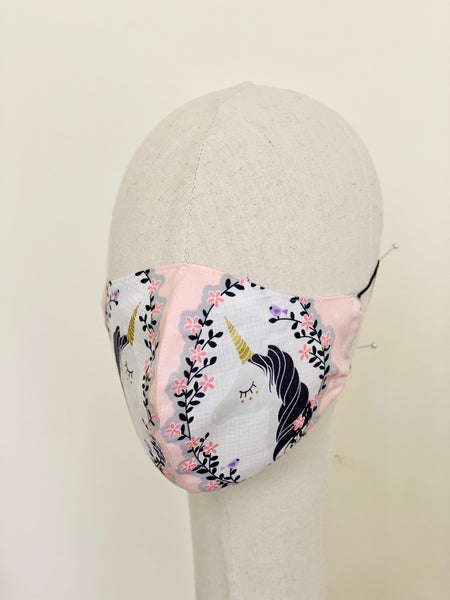 Dreamy Unicorn Print Cotton Filtered Face Mask Face Cover