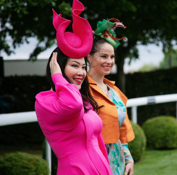 Shocking Pink Flame Hat