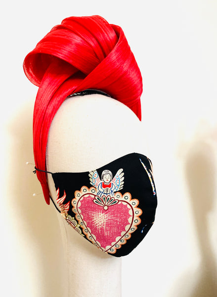 Limited Edition Frida Kahlo Sacred Heart Face Cover Mask A Filtered