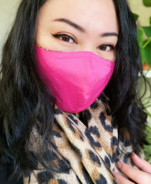 Premium Reversible Leopard Print & Pink Cotton Face Mask