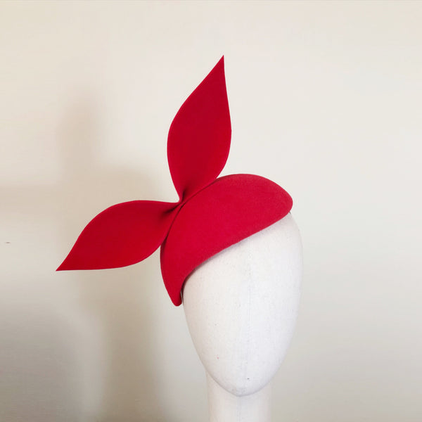 Scarlet Red Fur Felt Beret