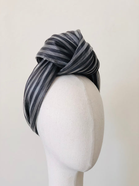 Coco Turban Striped Summer Silk Abaca Headband