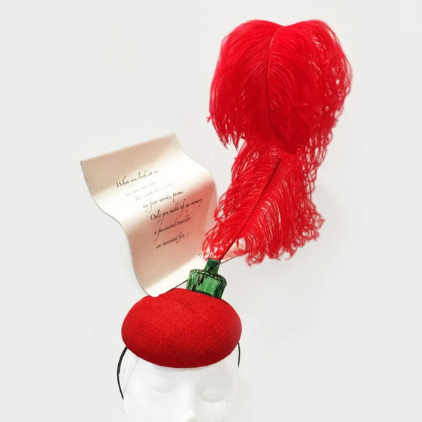 Love Poem and Quill Fascinator