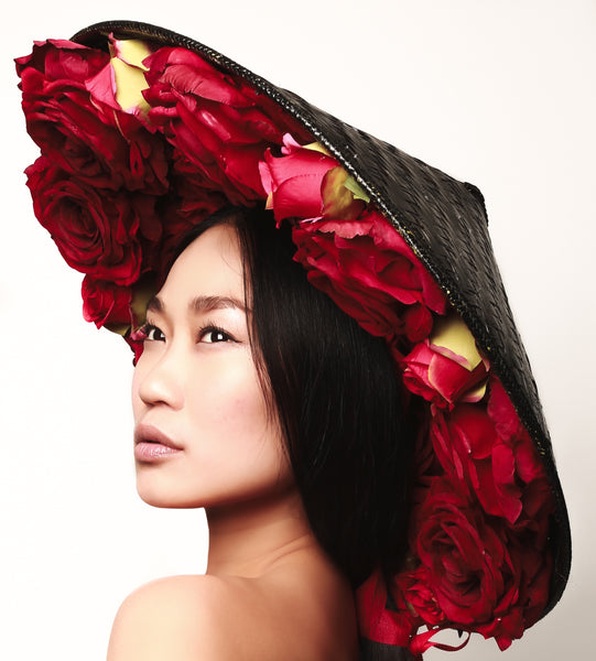 Red Rose Coolie Hat