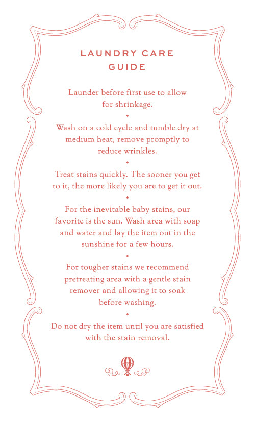 de Buci Baby Laundry Care Guide