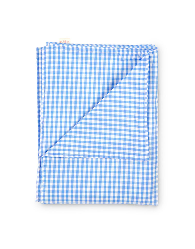 Large Blanket in Bright Blue Gingham