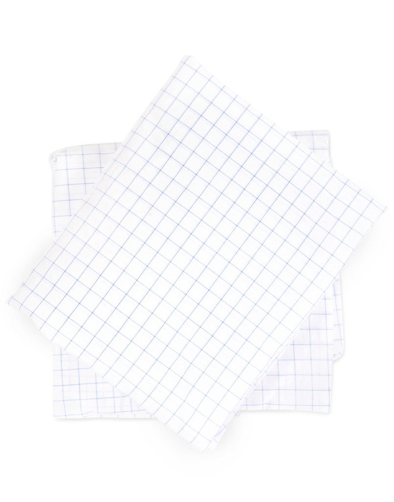 Crib Sheet in Windowpane Cotton