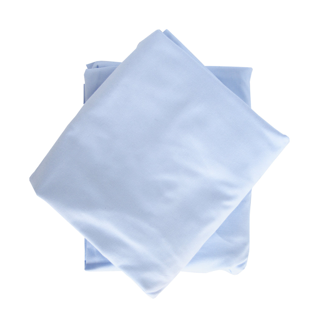 Crib Sheet in Blue Pique