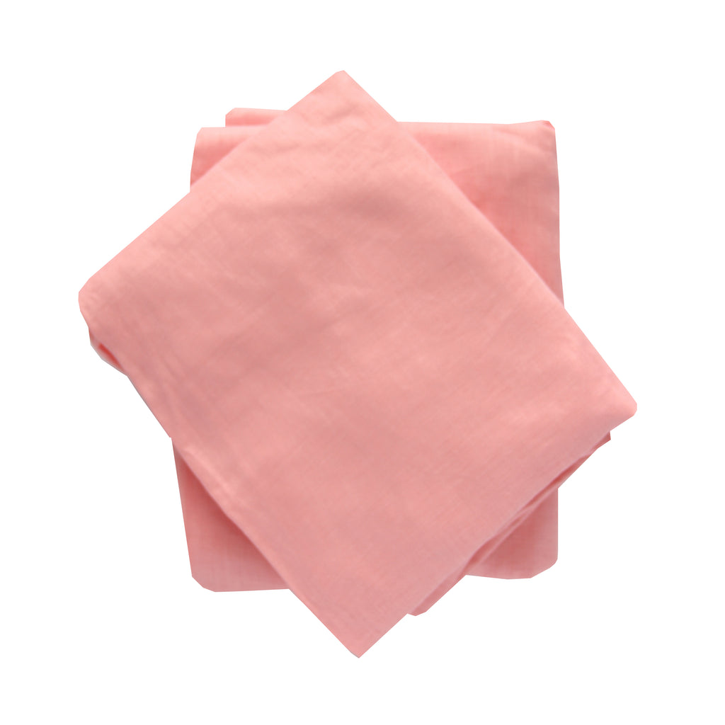 Crib Sheet in Bright Pink Linen
