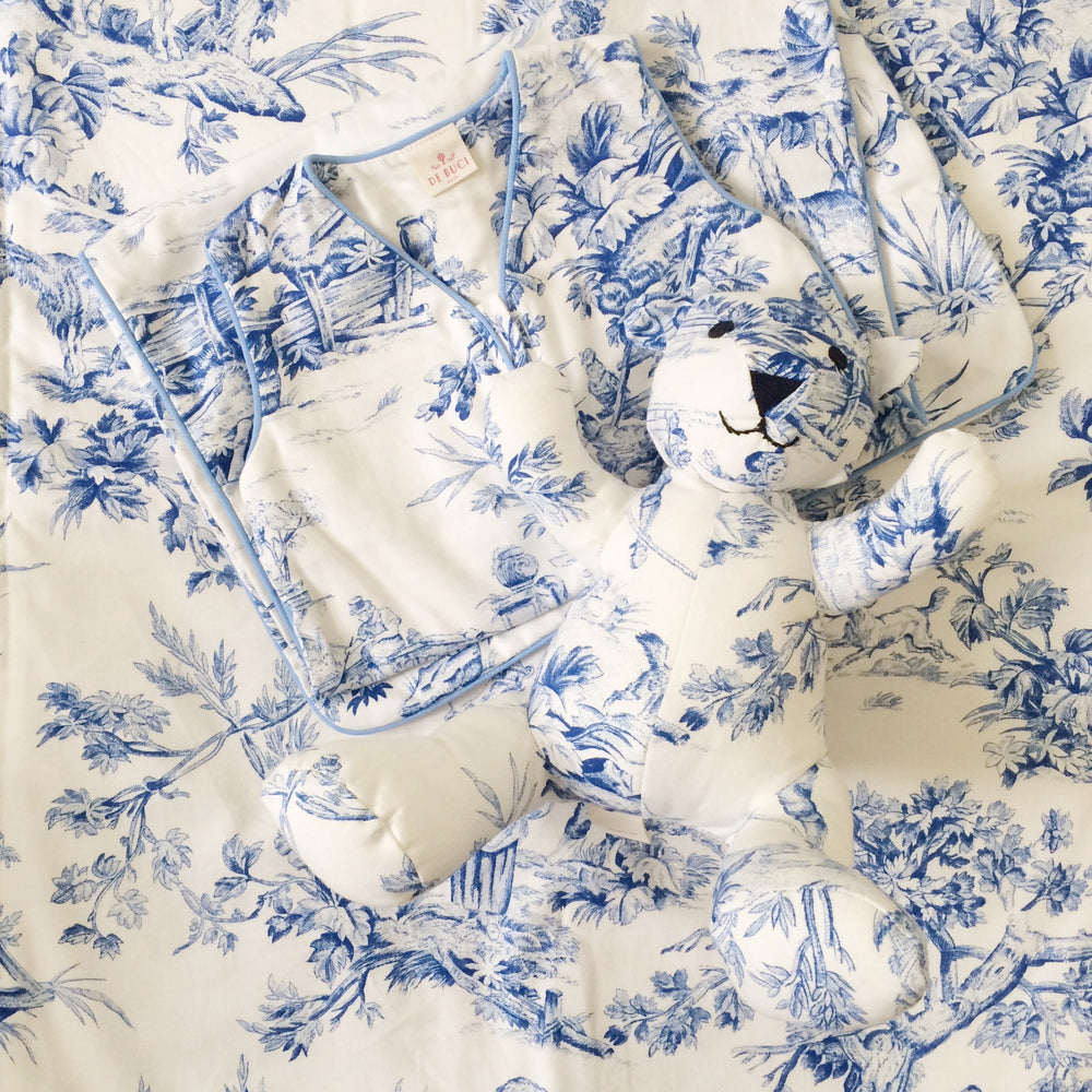 Crib Sheet in Toile Cotton