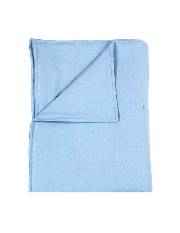 Large Blanket in Blue Linen
