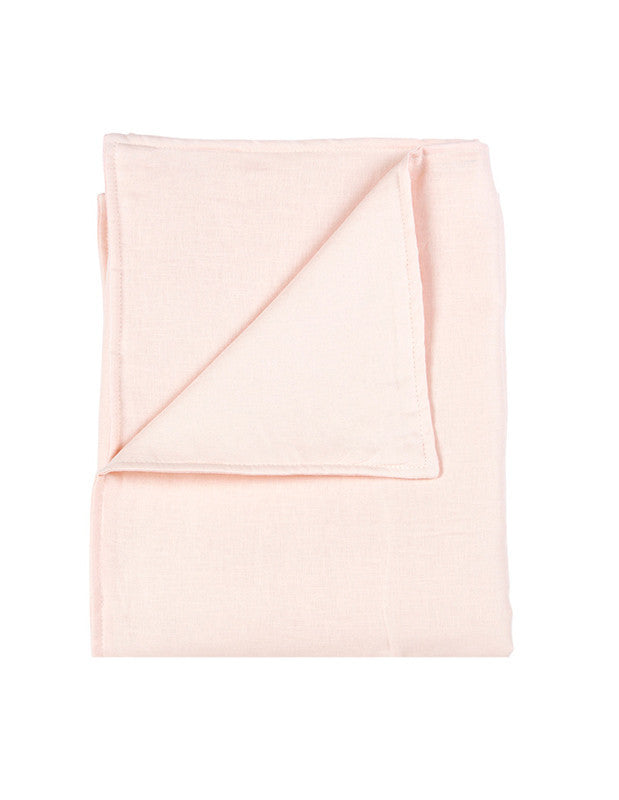 Large Blanket in Pink Linen