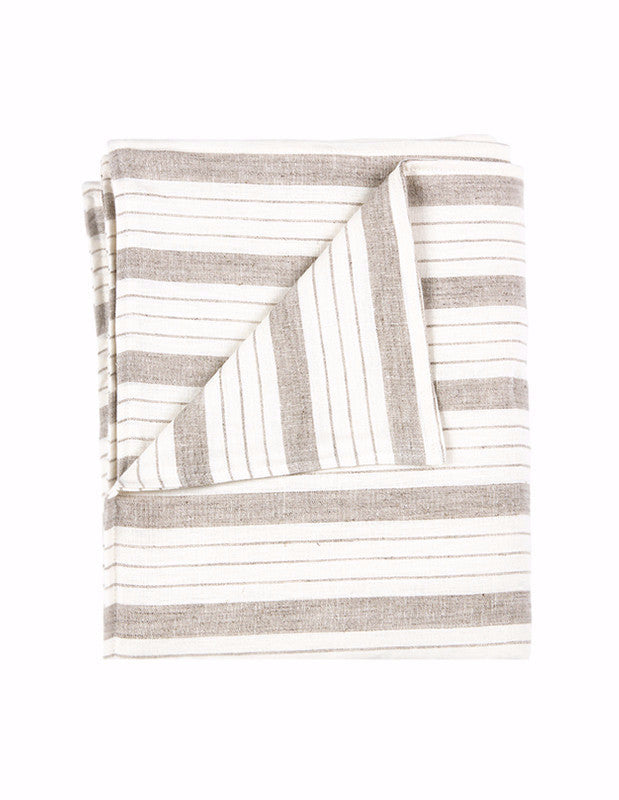 Large Blanket in Striped Linen