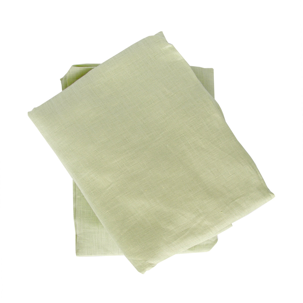 Crib Sheet in Spring Green Linen