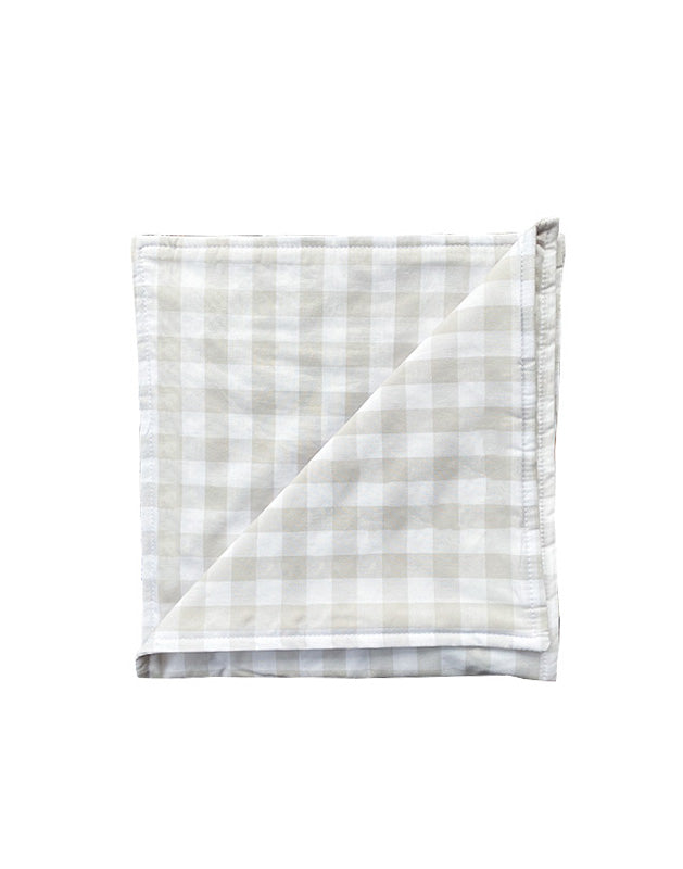 Burp Cloth in Beige Gingham