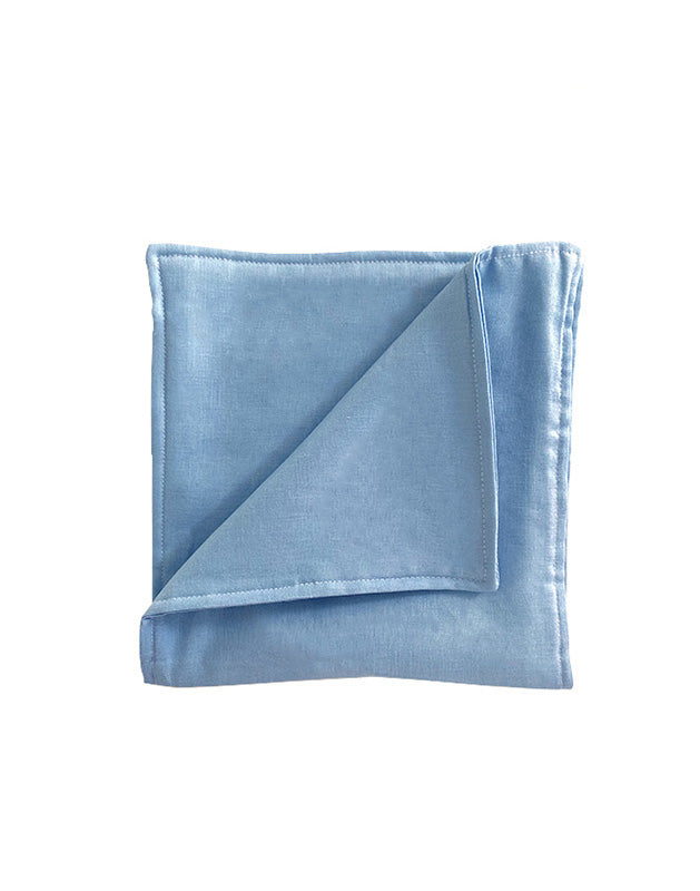 Burp Cloth in Blue Linen