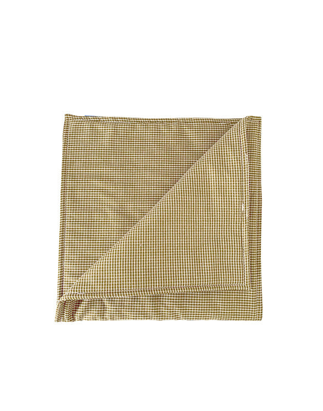 Burp Cloth in Mustard Gingham Cotton