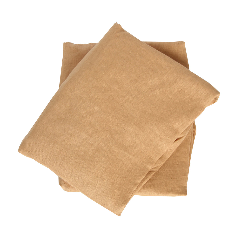 Crib Sheet in Caramel Linen