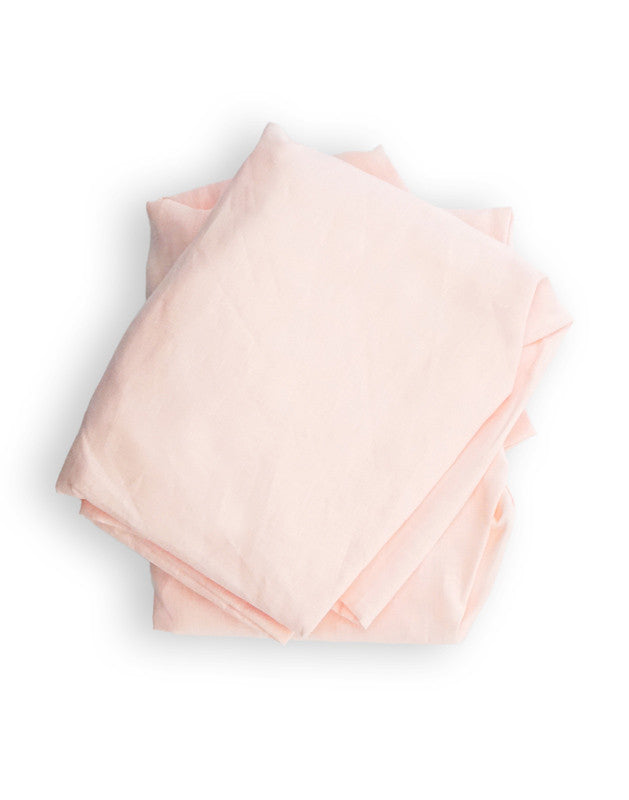 Crib Sheet in Pink Linen